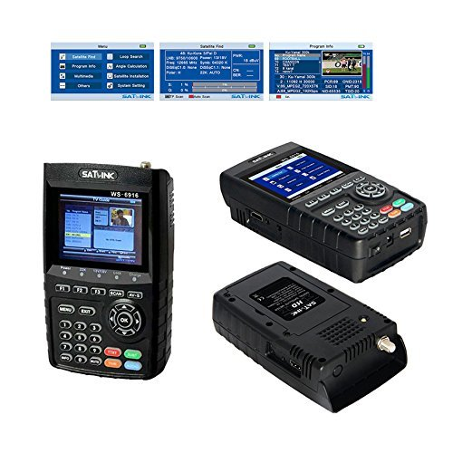 Satlink WS-6916 DVB-S/S2 HD Digital Satellite TV Finder Meter with MPEG-2/MPEG-4