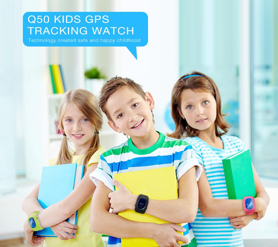 Q50 Kids Smart Watch GPS LBS Double Location Safe Children Watch Activity Tracker SOS Card