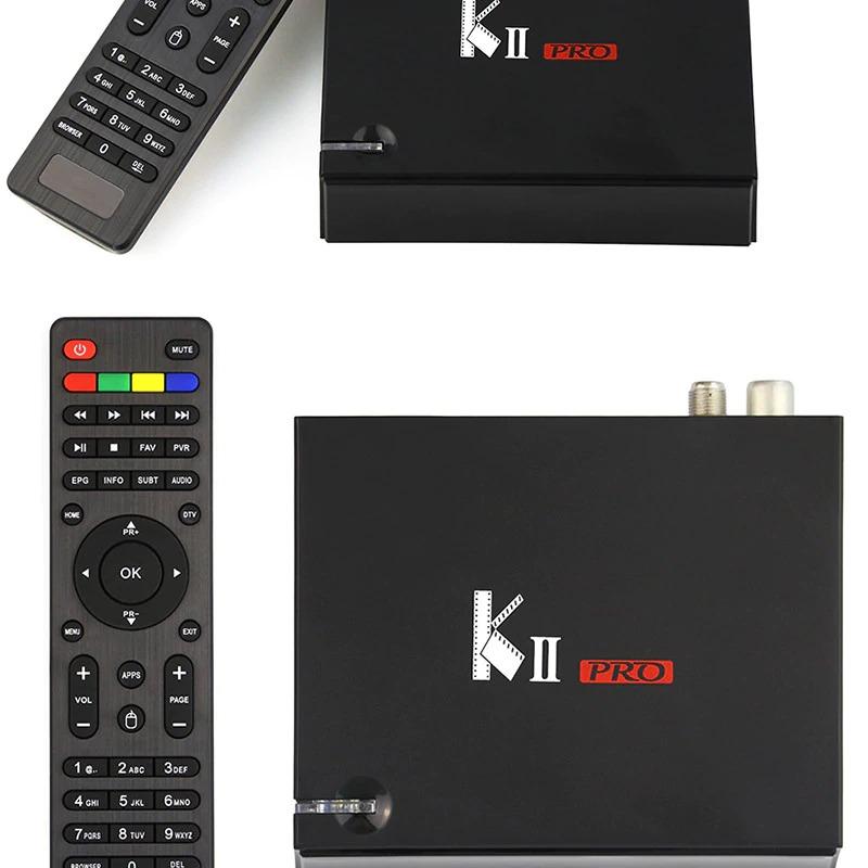 DVB T2 Android TV Box K2 PRO 2GB 16GB DVB-T2 DVB-S2 Android 7.1 Amlogic S905D Dual WIFI HEVC KII pro 4K Smart TV Box