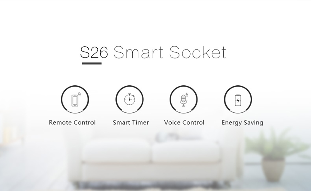 Sonoff S26 WiFi Smart Socket UK Plug Power Sockets Smart Home Switch Work With Alexa Google Assistant IFTTT