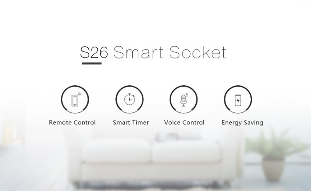 Sonoff S26 WiFi Smart Socket UK Plug Power Sockets Smart Home Switch Work With Alexa Google Assistant IFTTT