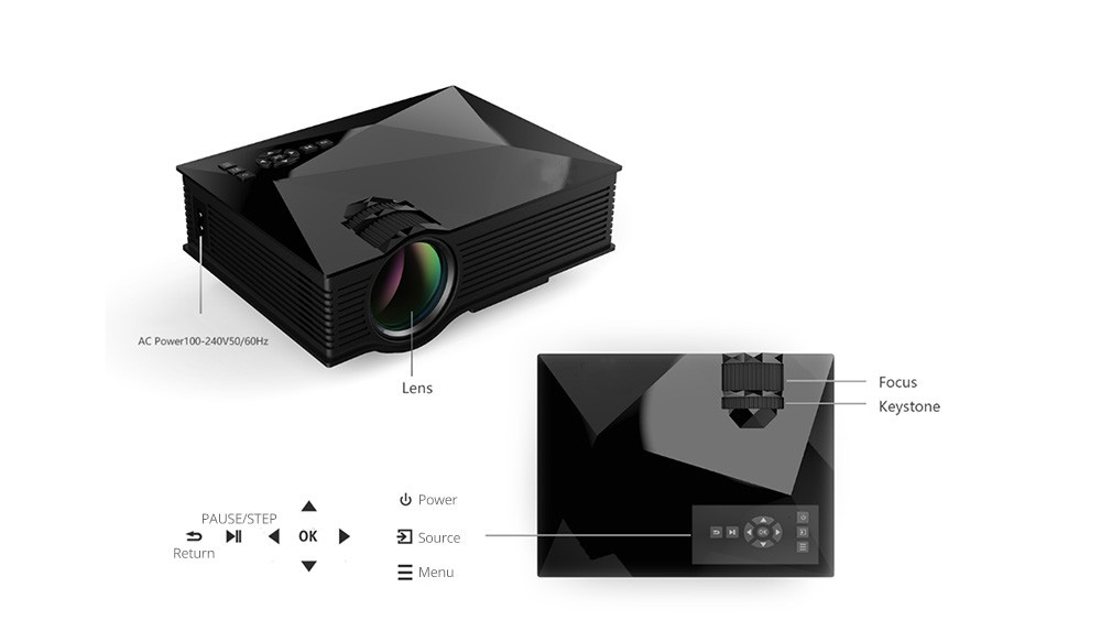 Unic UC68 Home 3D Projector
