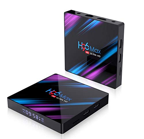H96 Pro MAX Android 9.0 TV Box 4G 64G Dual Band Wifi 2.4G&5G 4K Blootooth 4.0 Set Top Box USB 3.0 Support 3D Movie