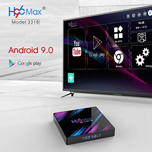 H96 Pro MAX Android 9.0 TV Box 4G 64G Dual Band Wifi 2.4G&5G 4K Blootooth 4.0 Set Top Box USB 3.0 Support 3D Movie buy online for best price in qatar