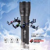 BLACK & FIGHTER 6 IN 1 MULTI-FUNCTION FLASHLIGHT