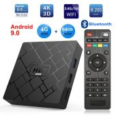 HK1 MAX Android 9.0 Smart TV BOX RK3328 Quad core 4GB Ram 64G Rom 2.4G/5G Dual WIFI Bluetooth 3D 4K HDR H.265 USB3.0 Set Top Box