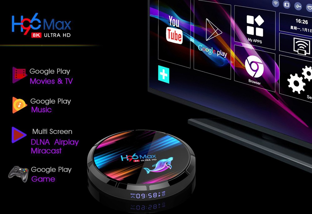 Android 9.0 H96 MAX X3 1000M Smart TV Box Amlogic S905X3 8K 4GB 128GB 64GB 2.4G&5G Wifi BT 4K Media Playe Andriod TV Set Top Box