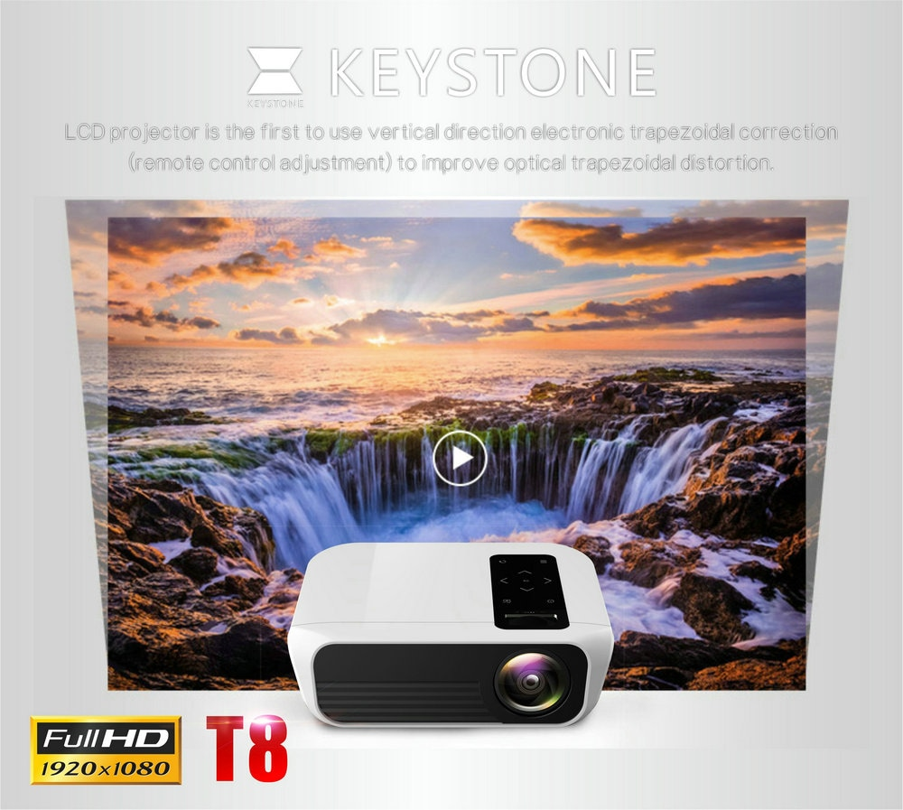 T8 Full HD Projector HDMI USB PC 1080p LED Home Theater Projector buy online for best price in Qatar