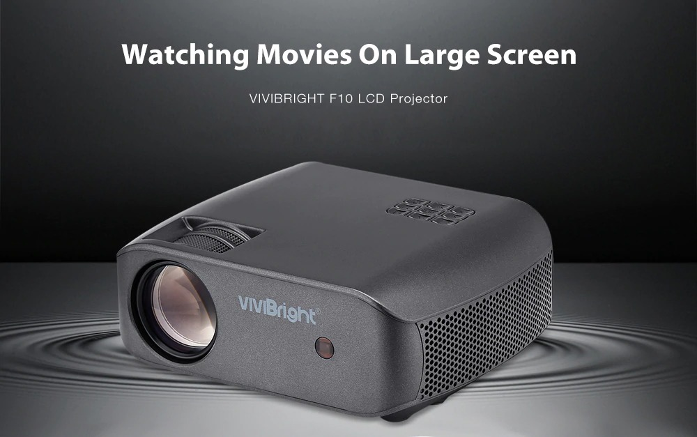 VIVIBRIGHT F10 LCD Home Entertainment Video Projector 2800 Lumens - Black