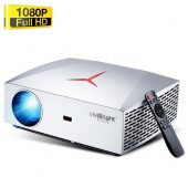 VIVIBRIGHT F40 Wifi Native 1080P LED Full HD Home Theater Projector - 4200 Lumens - 300 Display - 150001 Contrast Ratio - HiFi Stereo Speaker with SPDIF - Silver