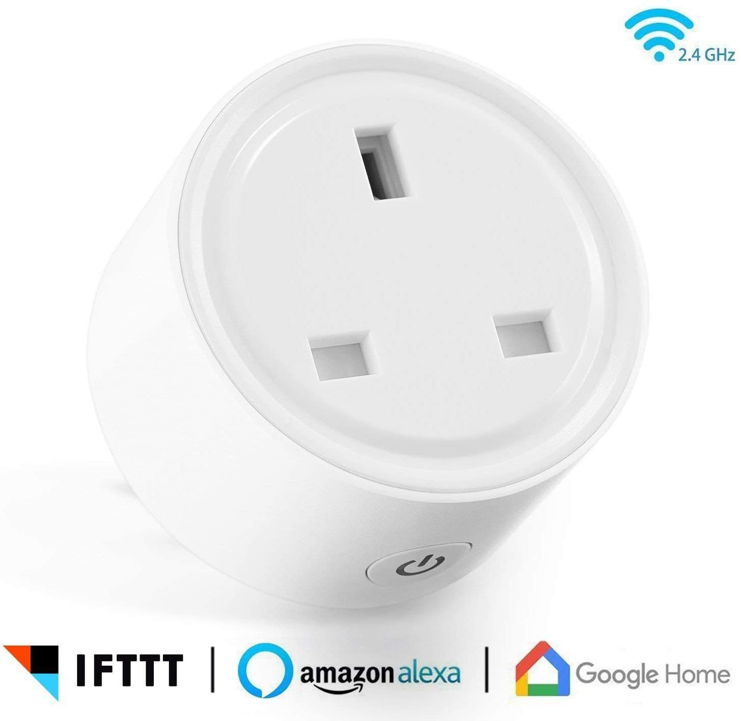 Smart Wifi Plug Socket iOS Android App Remote Control Works with Amazon Alexa/Echo Google Home/Assistant IFTTT White