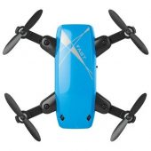 S9 Micro Foldable RC Drone - RTF - No Camera - Blue Standard Version