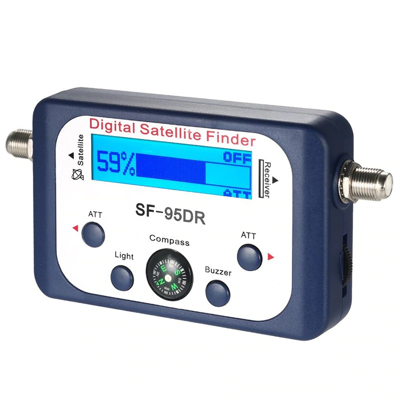 Digital Satellite Finder SF-95DR Meter Satlink Receptor TV Signal Receiver Sat Decoder Satfinder Compass LCD FTA Dish