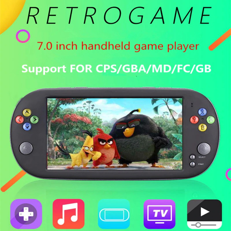 Powkiddy X16 Portable Handheld Video Game player 16GB ROM 7.0 Inch Screen Retro Games Console