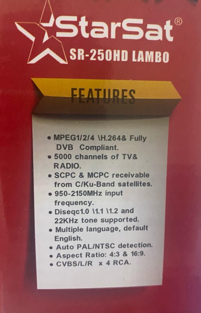 StarSat SR-250HD Lambo Full HD Satellite Receiver