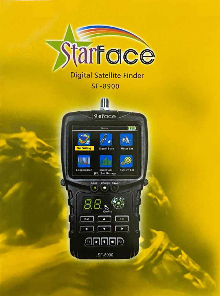 Starface HD SF-8900 Digital Satellite Finder Signal Meter