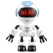 JJRC R8 Luke Intelligent Mini Robot with Touch Control LED Eyes Smart Voice Robot Toy - Blue