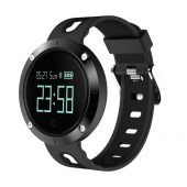 DM58 Smart Band Bluetooth Sport Watch Wristleband Bracelet 0.95 inch OLED Large Round Display - Black