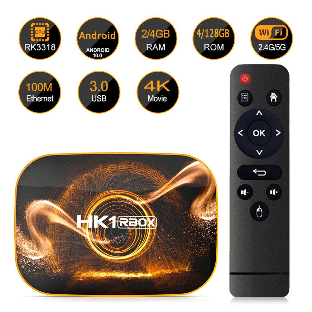 HK1 RBOX R1 Android 10 Smart TV Box - 4GB 64GB Rockchip RK3318