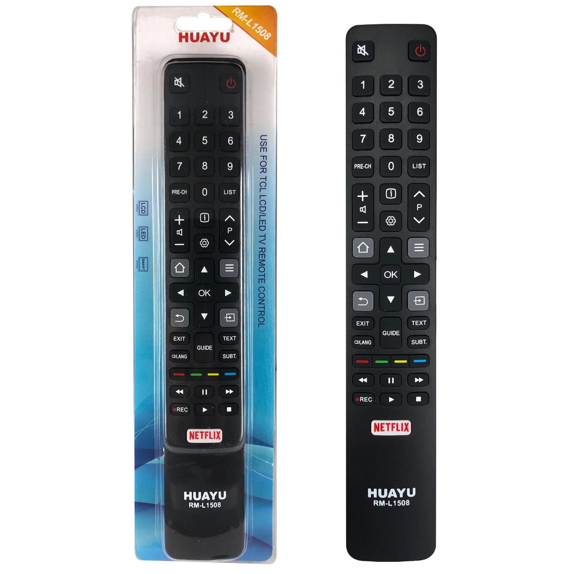 HUAYU RM-L1508+ TCL TV Remote – Works with All TCL televisions (LED,LCD,Plasma) – Ideal TV Remote Control with Same Functions as The TCL Remote - Black3
