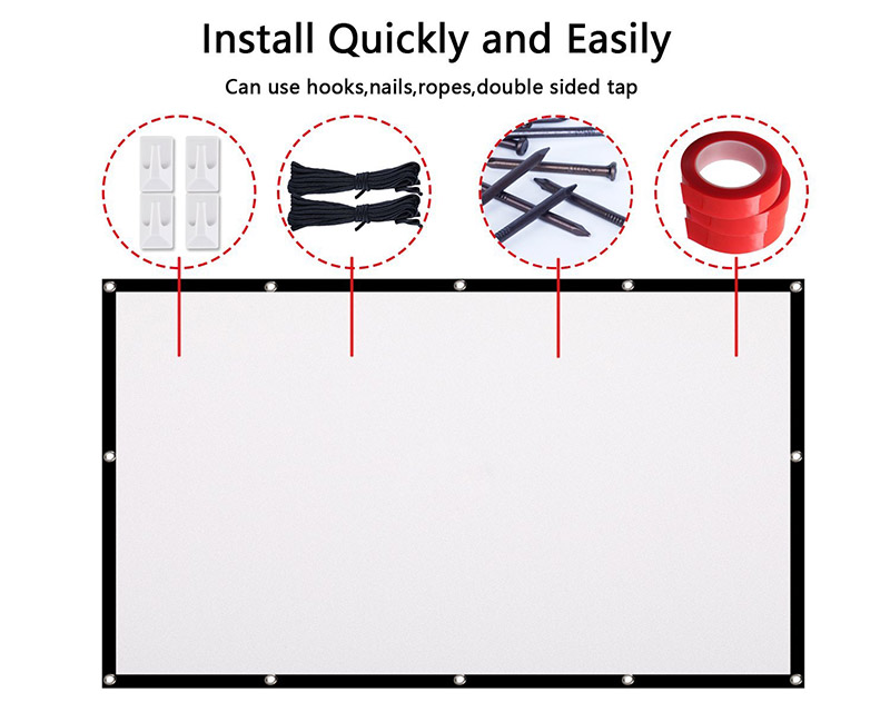 Owlenz 100 inch Simple Projection Screen 169 Portable Foldable Projector Screen
