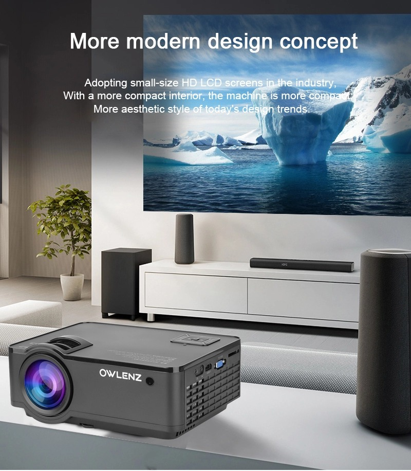 Owlenz SD150 LED Projector -Home Theater Video Entertainment 2400 Lumens 720p Multimedia Video LED Projector