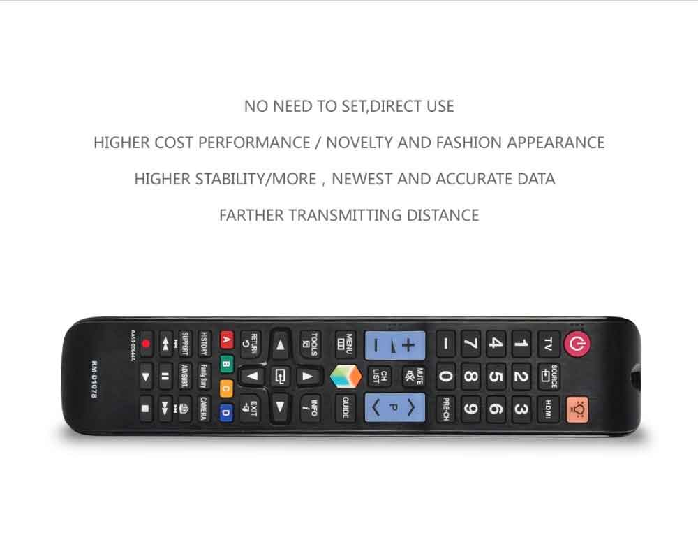 RM-D1078 LCD LED TV Universal Remote Control Compatible for Samsung TV