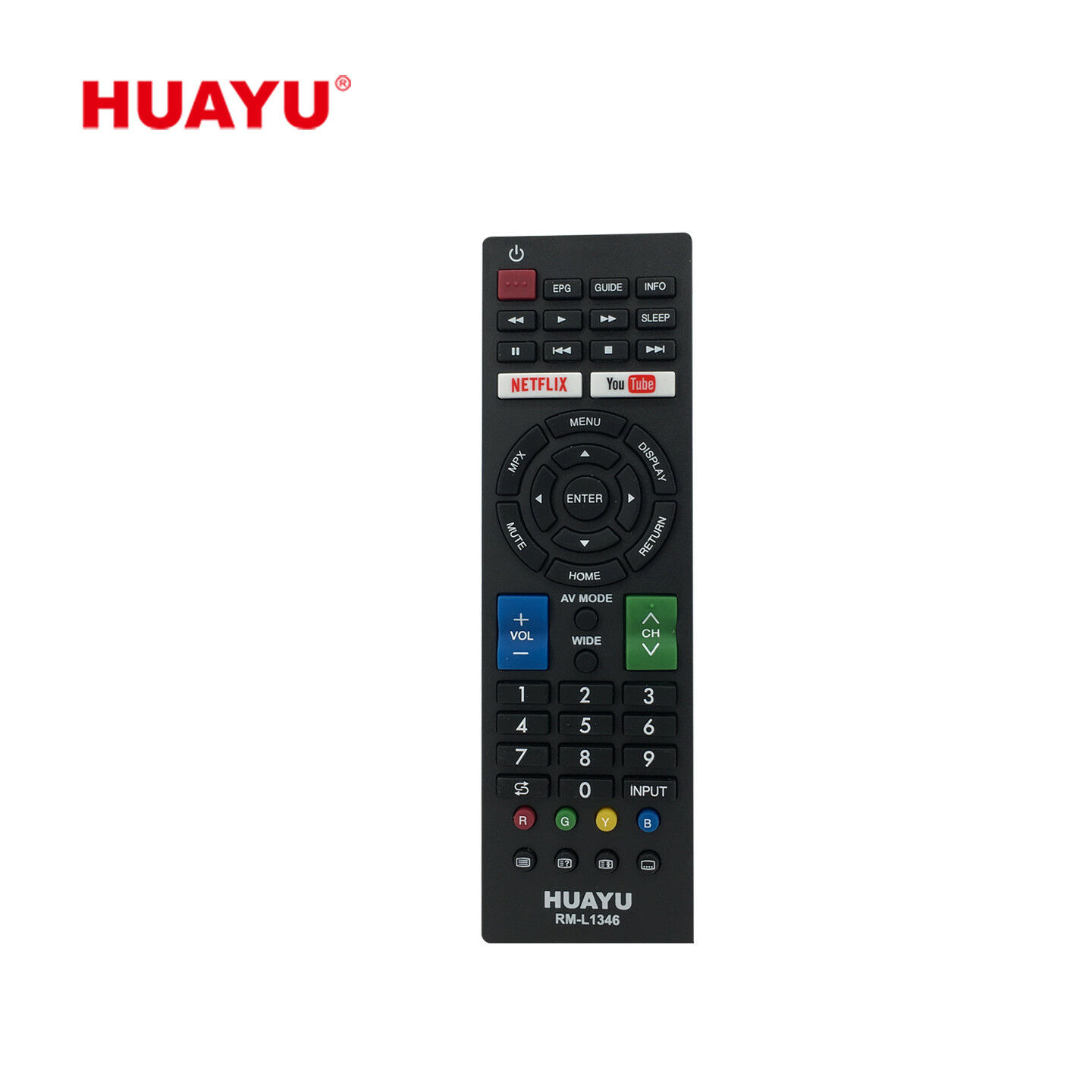 Sharp TV Compatible Remote Control- Huayu RM-L1346 LCD LED TV Remote Control
