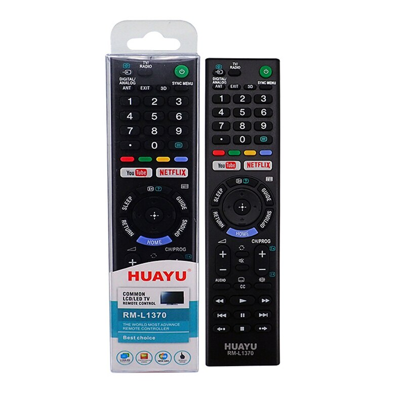 Sony TV Compatible Remote Control- Huayu RM-L1370 LCD LED TV Remote Control