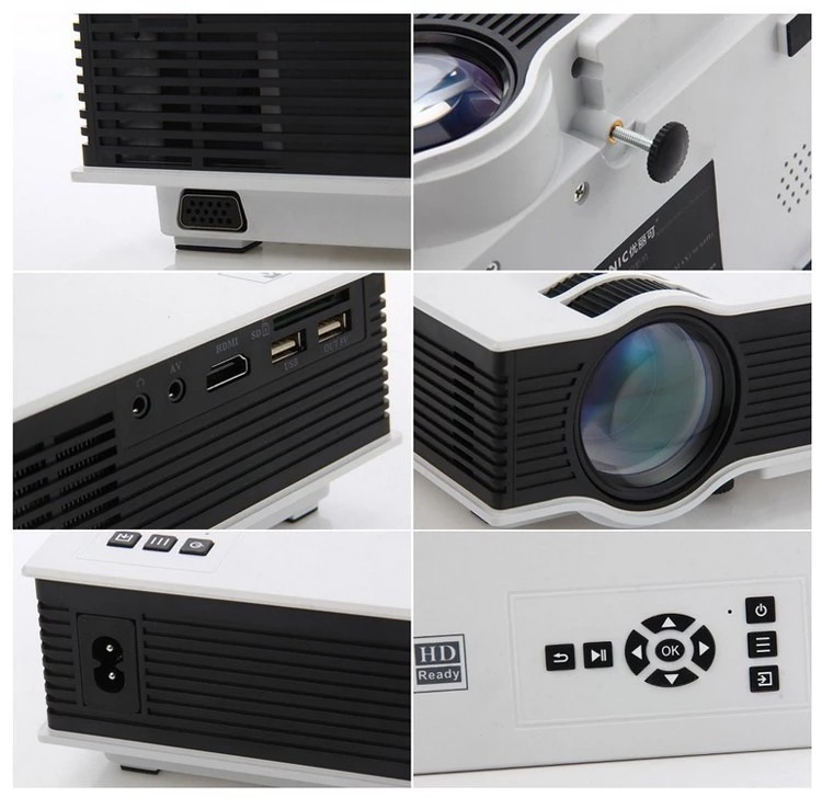Unic UC68 WiFi Projector- Portable LED 1800 Lumens Home Cinema Projector - White