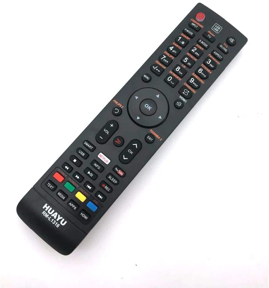 Universal Remote Control HUAYU RM-L1316 Remote Control forSmart Plasma TV Nexflix YouTube Remote Control
