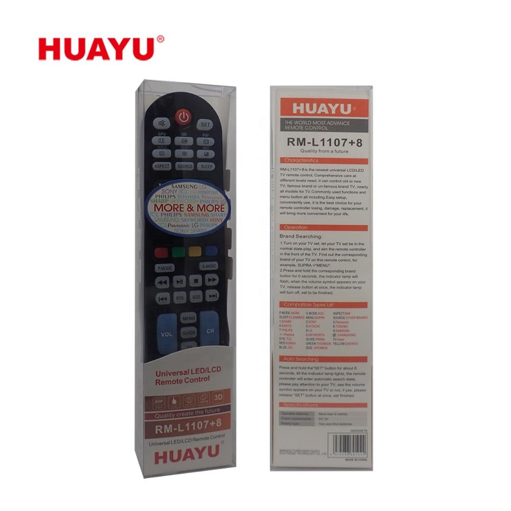 Universal Remote Control Huayu RM L-1107+8 Remote Control for LCD/LED TV