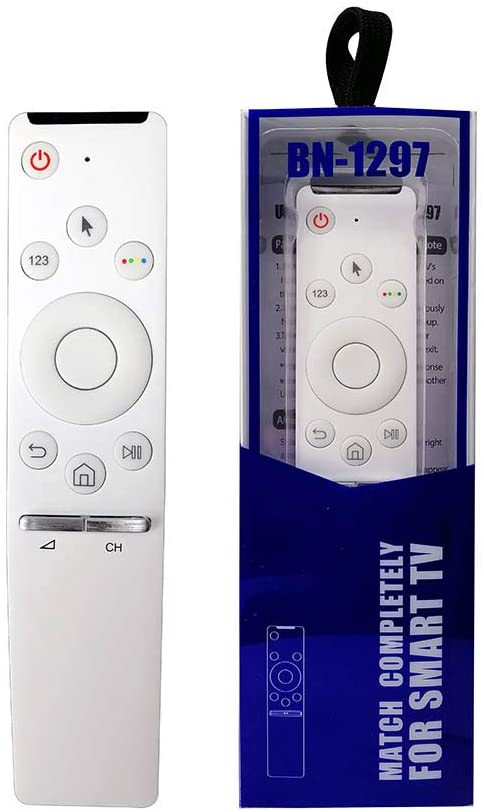 BN-1297 Replacement Remote Control for Samsung Smart TV (LCD, LED, Plasma) - Compatible with SR 7557 7700 - White