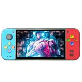 Coolbaby RS11 Portable 5 inch Retro Handheld Game Console Emulator PSP FC game device - Red and Blue