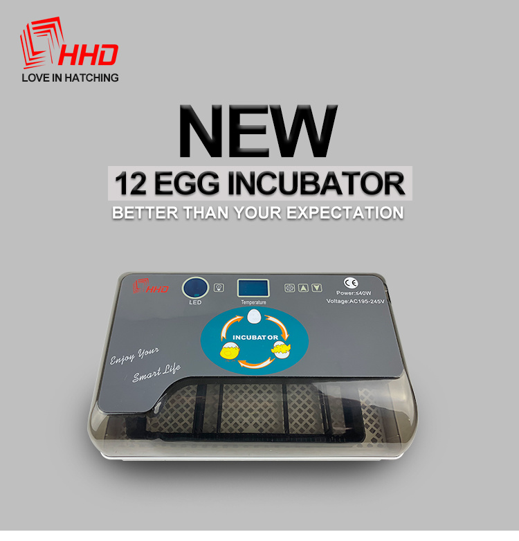 HHD YZ9-12 Mini Incubator - Fully Automatic 12 Egg Mini Incubator