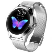KW10 Ladies Smart Watch - Silver Steel Strap - Heart Rate Monitor Step Count Sedentary Reminder IP68