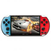 X7 Plus Portable Retro Game Console- 5.1 Inch Large Screen PSP Mini Arcade FC Video Game Console Support GBA Arcade - Red and Blue