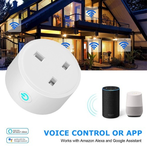 LSPA smart socket wifi UK smart power socket Voice Remote Control Home Automation Plug Work with Google Home Alexa