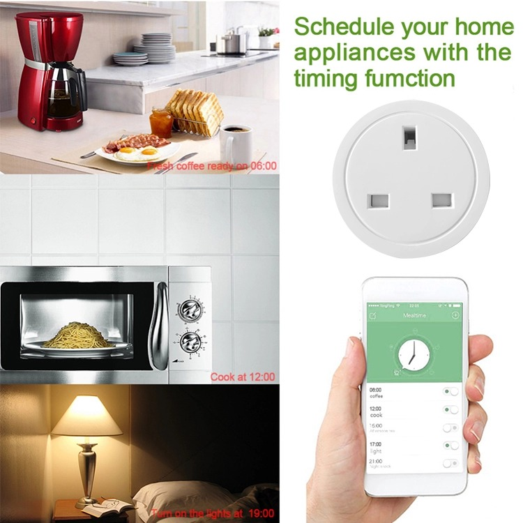 LSPA smart socket wifi UK smart power socket Voice Remote Control Home Automation Plug Work with Google Home Alexa