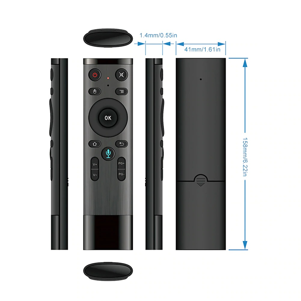 Q5 Gyro Air Mouse Voice Remote Control for Android Smart TV Media Box
