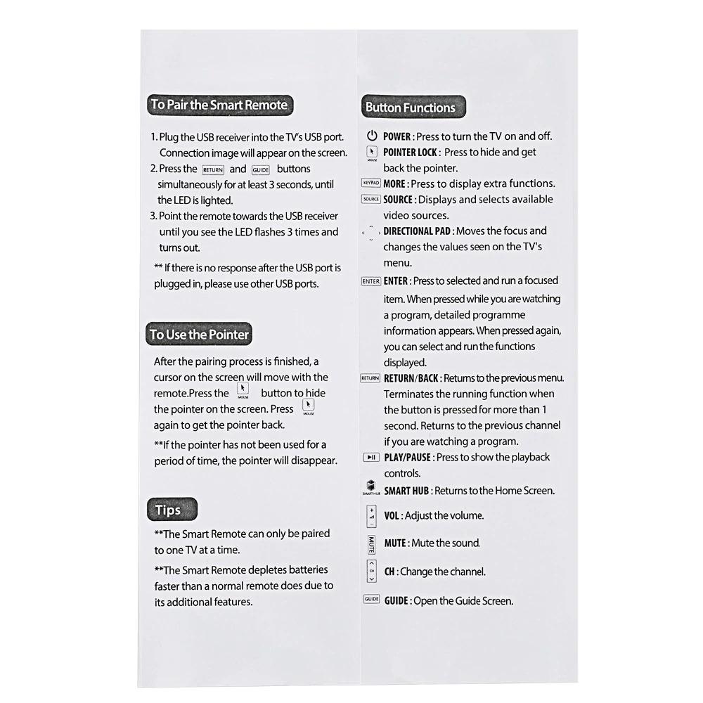 Samsung Smart TV Compatible Remote - BN-1220 Remote Control