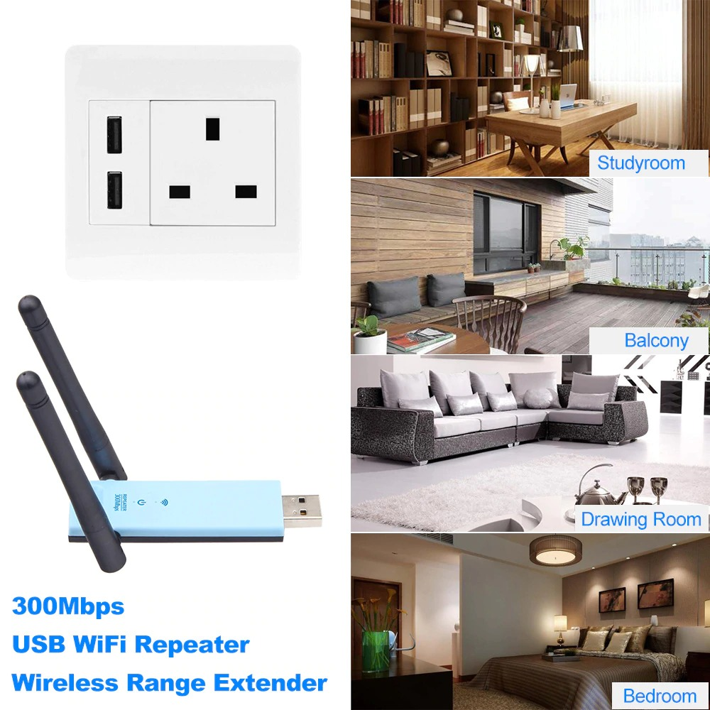 WD-R603U 300Mbps Wireless Range Extender USB WiFi Repeater