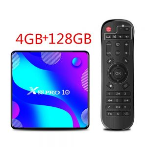 X88 PRO 10 Android 10.0 TV BoxRK3318 4K Google Store Netflix Youtube Max 4GB RAM 128GB ROM Android 10 Set Top Box