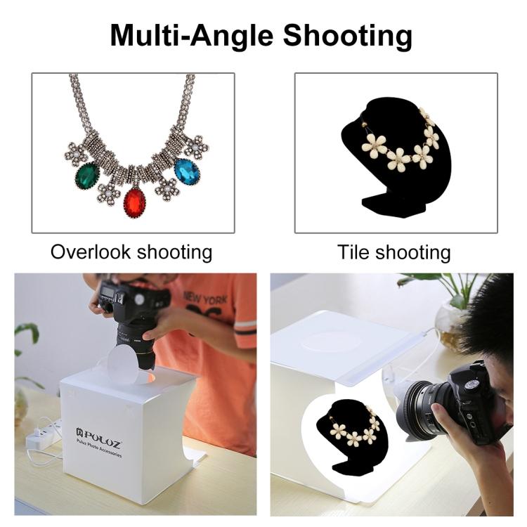 Puluz PU5021 LED Portable Photo Studio - 20cm Folding Product Shooting Box