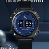 TEEKEY'S TK3163 Men Luxury Brand Rolling Time Leather Watch