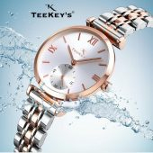 TEEKEY'S TK7127 Women Luxury Brand Stainless Steel Watch