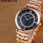 TEEKEYS TK7127B Women Luxury Brand Stainless Steel Watch