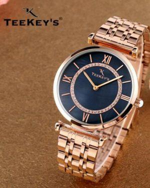 TEEKEYS TK7127B Women Luxury Brand Stainless Steel Watch