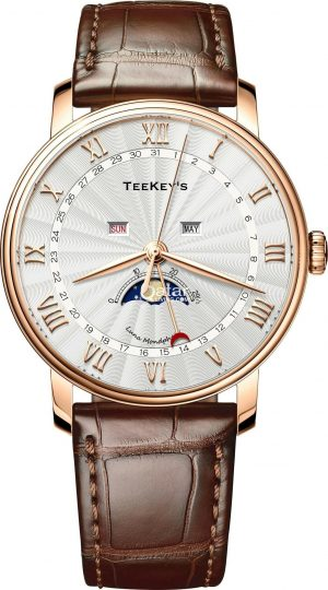 TEEKEY'S TK7766 Luxury Mens Business 30M Waterproof Sapphire Mirror Fashion Multifunctions