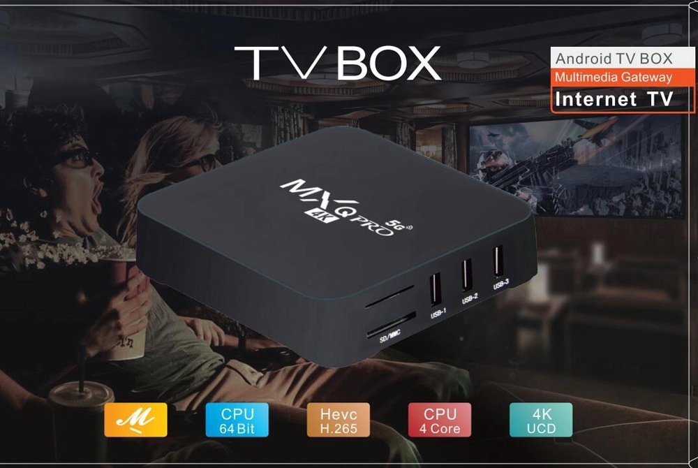 Mxq Pro 4k Android TV Box - 1GB 8GB Android 10